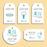Den discount gift tags. Ready to use. Flat design. Vector Stock Images