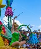 Den Disney världen Orlando Florida Magic Kingdom ståtar grejar klockan Royaltyfri Fotografi