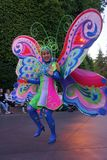 Den Disneyland fantasin ståtar teckendansaren royaltyfri fotografi