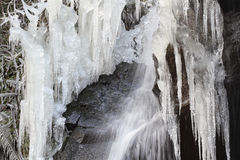 Den djupfrysta vattenfallet Royaltyfria Foton