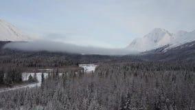 Den djupfrysta vildmarken av de Chugach bergen stock video