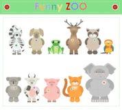 Den djura zoo, särar två roliga lilla flotta djur Tecknad filmvektor vektor illustrationer