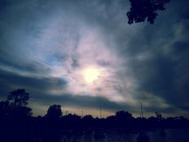Den dolda solen Fotografering för Bildbyråer