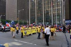 Den dominikanska dagen för 2015 NYC ståtar 59 Arkivbild
