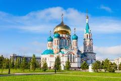 Den Dormition domkyrkan, Omsk Royaltyfria Bilder