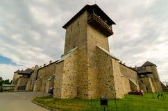 Den Dragomirna kloster, Rumänien Arkivfoto