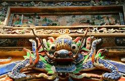 Den Dragon East Bastion porten av det imperialistiska Forbiddenet City, ton, royaltyfri fotografi