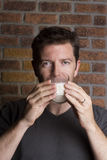 den dricka glass manlign mjölkar white royaltyfri foto