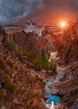 Den dröm- slotten - Neuschwanstein Arkivbilder