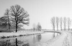 Den drömlika vintern landskap Arkivfoton