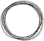 Den drog abstrakta handen klottrar klottercirkeln vektor illustrationer