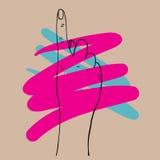Den drog handen räcker symbolen för vektorillustrationsymbolet Royaltyfria Bilder