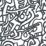 Den drog vektorhanden skissar av grafittiillustration på vit bakgrund stock illustrationer