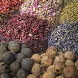 Den Dubai kryddan Souk eller den gamla Souken är en traditionell marknad i Duba Royaltyfri Fotografi