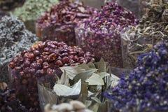 Den Dubai kryddan Souk eller den gamla Souken är en traditionell marknad i Duba Royaltyfria Foton