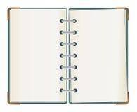 den dubbla anteckningsboken sid Royaltyfri Bild