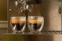 den dubbla espresson sköt royaltyfri fotografi