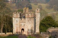 Dunster slottporthus Somerset England Royaltyfria Foton