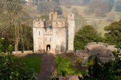 Dunster slottporthus Somerset England Arkivfoto