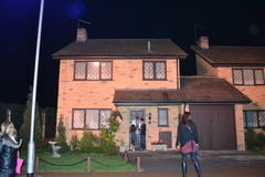 Den DURSLEY-HUSWarner HARRY KERAMIKERN TURNERAR London Leavesden Royaltyfri Foto