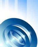 Den dynamiska visuella designen 3d på kontrollerade blått mönstrar bakgrund Royaltyfri Bild