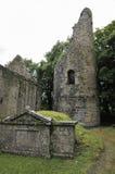 Den Dysert O'Dea kyrkan & står hög Arkivfoton