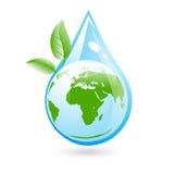 Den Eco frikänden bevattnar begrepp Arkivbild