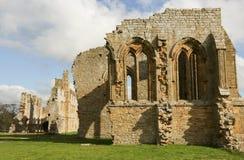 Den Egglestone abbotskloster är en övergiven Premonstratensian abbotskloster på den sydliga banken av flodutslagsplatserna Royaltyfria Foton