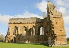Den Egglestone abbotskloster är en övergiven Premonstratensian abbotskloster på den sydliga banken av flodutslagsplatserna Royaltyfri Foto