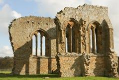 Den Egglestone abbotskloster är en övergiven Premonstratensian abbotskloster på den sydliga banken av flodutslagsplatserna Fotografering för Bildbyråer