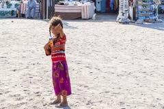 Den egyptiska flickan Arkivbilder