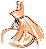 Den egyptiska guden Horus stiliserade stock illustrationer