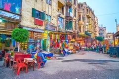 Den egyptiska marknaden i Kairo royaltyfri foto