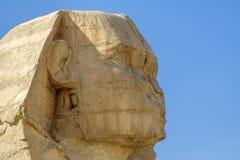 Den egyptiska sfinxen, fördärvar av forntid Arkivbild