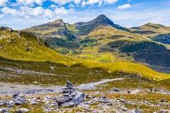 Den Eiger trailen Arkivfoto