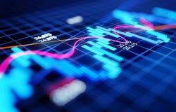 Den ekonomiaffären och investeringen lagerför diagrammet royaltyfria bilder