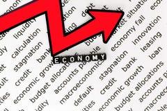 Den ekonomiska nedgången Arkivfoto