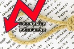 Den ekonomiska nedgången Royaltyfri Fotografi