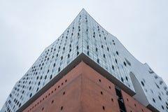 Den Elbphilharmonie byggnaden i Hamburg, Tyskland arkivfoto