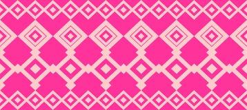 Den eleganta dekorativa gränsen som utgjordes av fyrkantiga rosa färger och, steg Arkivbild