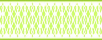 Den eleganta dekorativa gränsen utgjorde av flera gröna färger 2 Fotografering för Bildbyråer