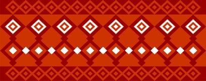 Den eleganta dekorativa gränsen utgjorde av fyrkantig röda vit och mörker - Arkivfoton