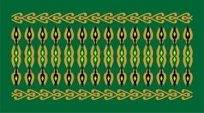 Den eleganta och dekorativa gränsen av hinduisk och arabisk inspiration av olika färger, guld-, svart och ljust - göra grön och g Royaltyfria Bilder