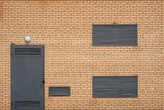 Den elektriska avdelningskontortegelstenbyggnaden Royaltyfri Foto