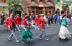 Den elektriska huvudgatan ståtar i Disney Orlando Royaltyfria Foton