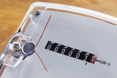 Den elektriska metern royaltyfri foto