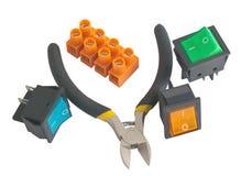 Den elektriska utrustningen Arkivfoto