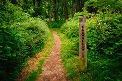 Den Elkwallow slingan, i den Shenandoah nationalparken, Virginia Arkivbilder