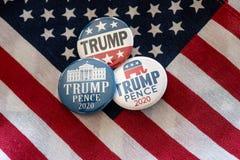 Den emblembenet och Förenta staterna för trumf 2020 sjunker royaltyfri illustrationer