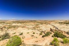 Den en Miljon-dollar vägen från stenblocket till Escalante, USA Arkivfoto